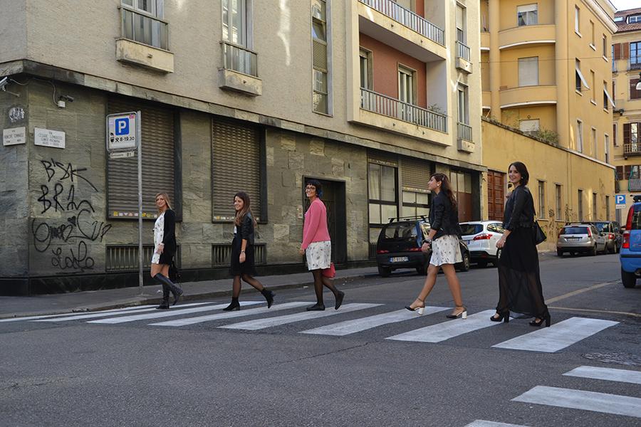 Torino Fashion Bloggers Righe à Pois festa negozio party Castello del Valentino U Never Know passeggiata camminata strada