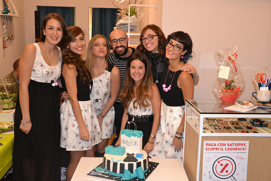 Torino Fashion Bloggers Righe à Pois festa negozio party torta cake design