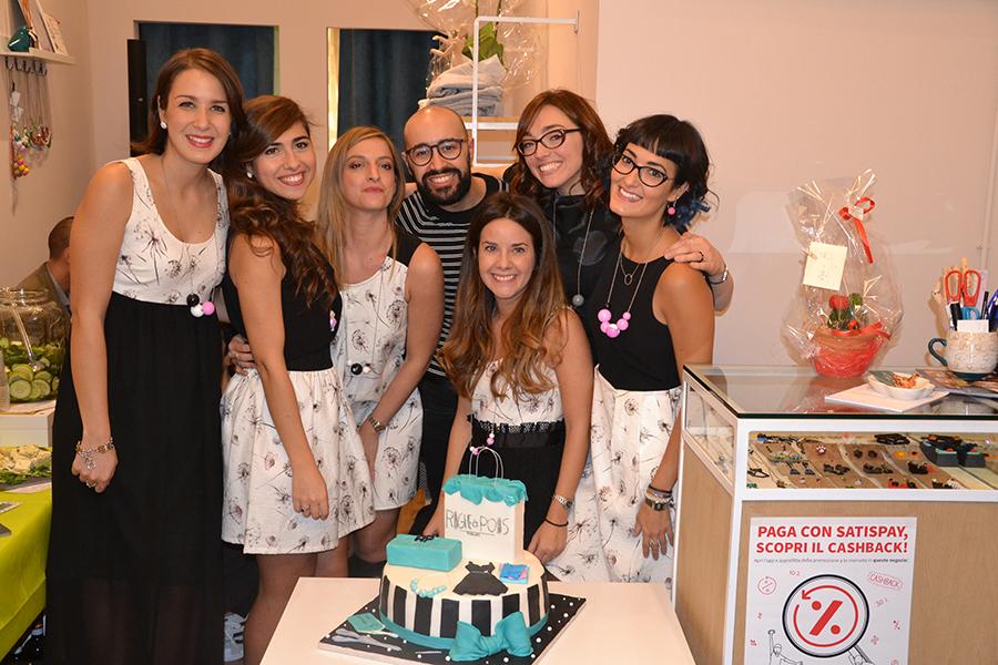 Torino Fashion Bloggers Righe à Pois festa negozio party torta cake design