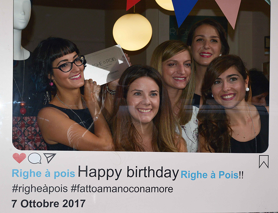 Torino Fashion Bloggers Righe à Pois festa negozio party instagram