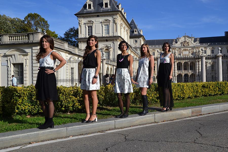 Torino Fashion Bloggers Righe à Pois festa negozio party Castello del Valentino U Never Know shooting